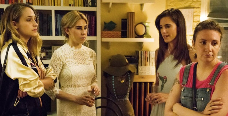 A screenshot from HBO's 'Girls,' where the core group of friends undergoes a friendship breakup. These are some types of friends you should get rid of immediately.