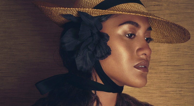NARS' new Bronzing collection makeup on model.