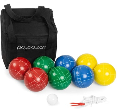 Play Platoon Bocce Ball Set Game with Case