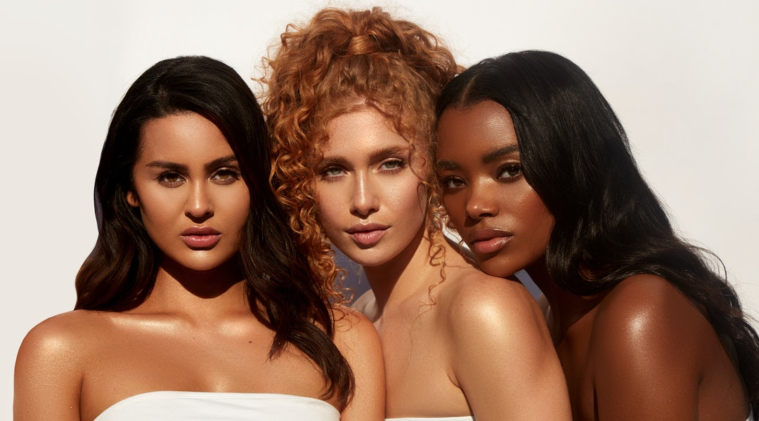 Dominique Cosmetics' new Skin Gloss on models.