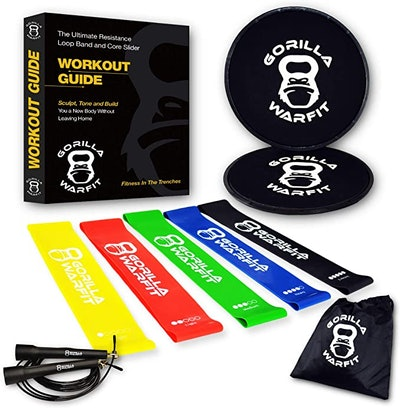 Gorilla Warfit Core Sliders And Resistance Bands Kit