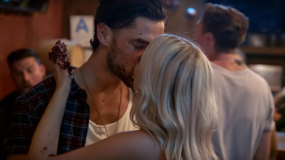 'Vanderpump Rules' stars Brett and Dayna kissing.