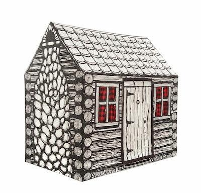 Magic Cabin Log Cabin Play Tent
