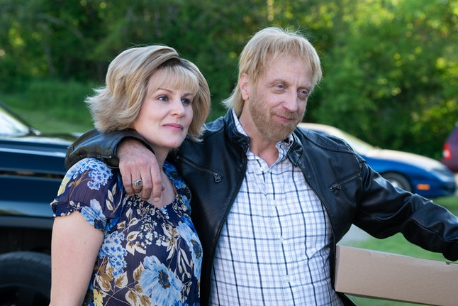 Jocelyn (Jenn Robertson) and Roland (Chris Elliott) in 'Schitt's Creek' Season 6