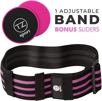 TZ Sport Core Sliders And Adjustable Hip Resistance Band