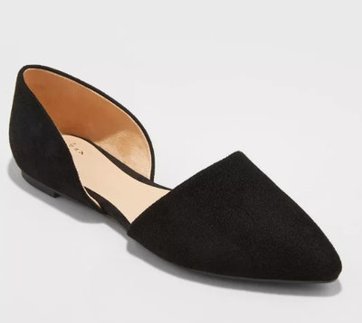 Women's Rebecca Microsuede Pointed Ballet Flats