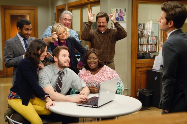 These 'Parks & Rec' Zoom backgrounds include four different options.