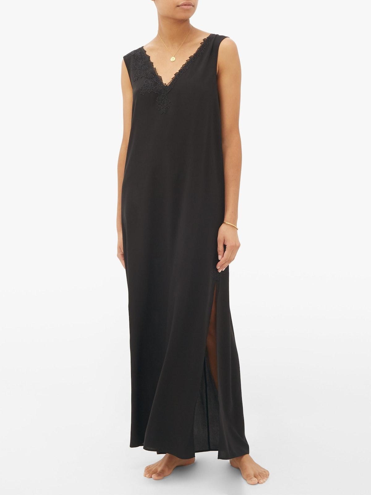 Bella Lace-Applique Nightgown