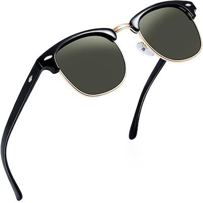 Joopin Semi-Rimless Polarized Sunglasses