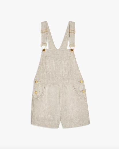 Basic Linen Short Overalls