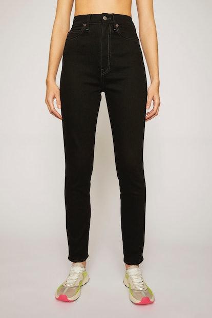 Super High-Rise Skinny Jeans Black