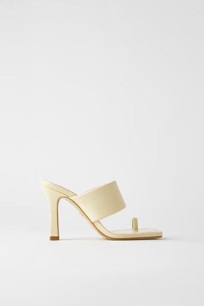 Zara Heeled Leather Sandals with Padded Strap