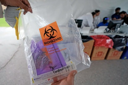 A coronavirus test kit. Necessary before a person can be declared officially recovered.