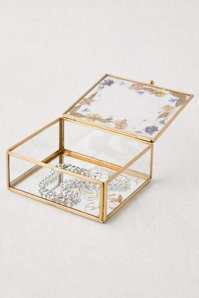 Pressed Floral Jewelry Box