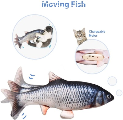 Leven Electric Flopping Fish Cat Kicker Toy