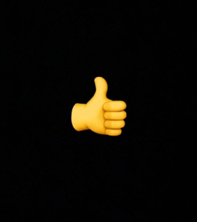 """The """"Thumbs Up"""" emoji is used to signify agreement or approval."""