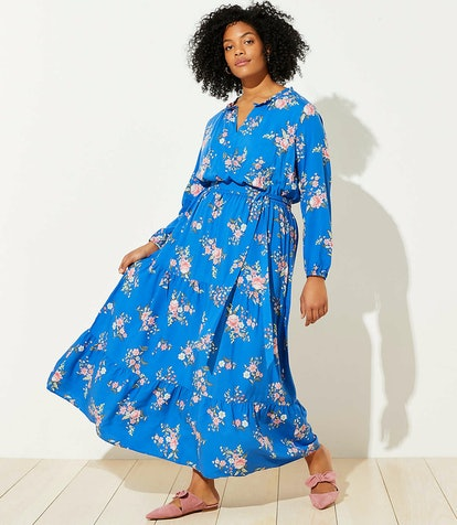 Loft Plus Floral Tiered Maxi Dress