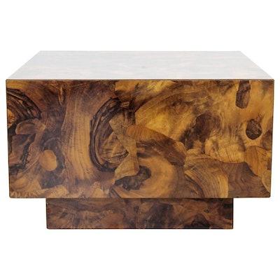 Mid Century Modern Burl Wood Table