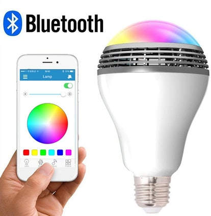 Longwen LED Smart Light Bulb with Bluetooth Speaker