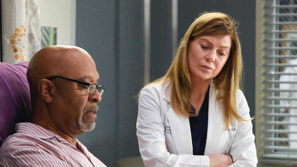 Richard Webber and Meredith Grey on Grey's Anatomy