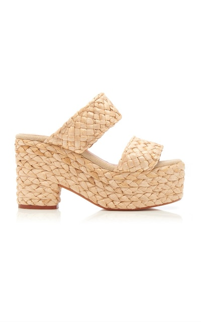Castañer Raffia Platform Sandals