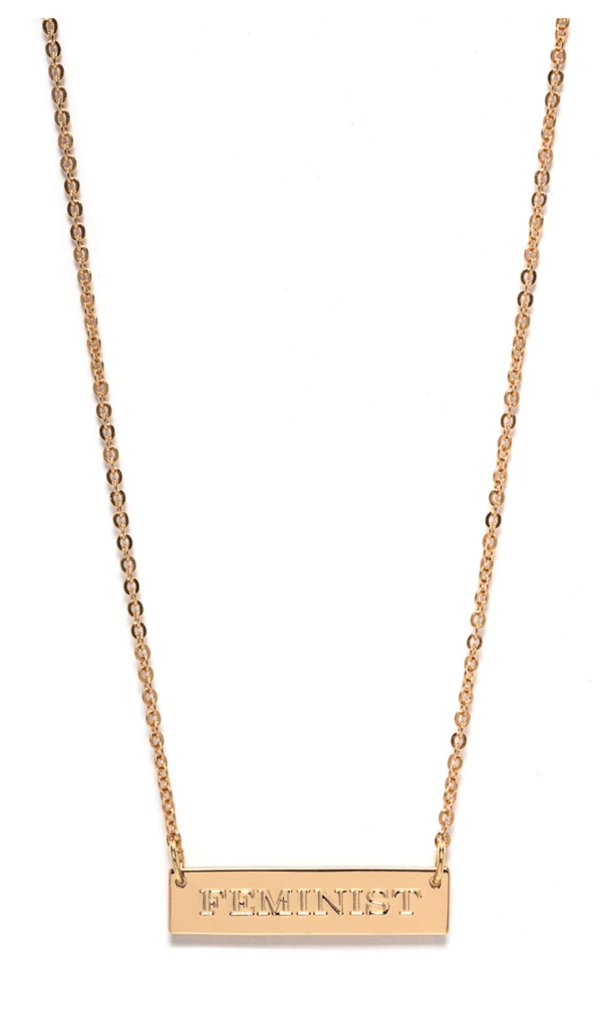 Fashion Nova Feminist Pendant Necklace