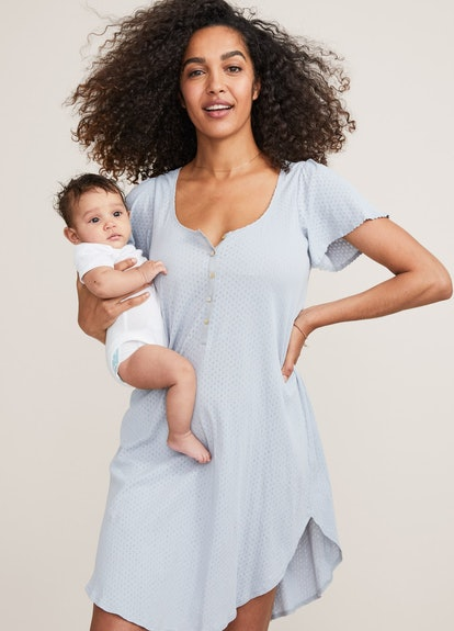 The Organic Pointelle Nightgown