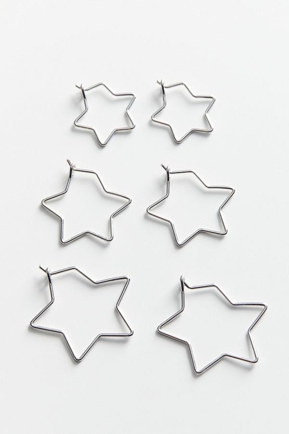 Mini Star Hoop Earring Set