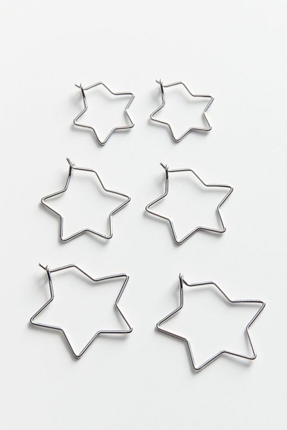 Mini Star Hoop Earring Set