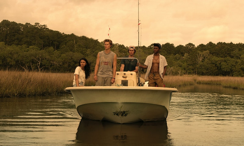 Kie, JJ, John B, and Pope in 'Outer Banks'