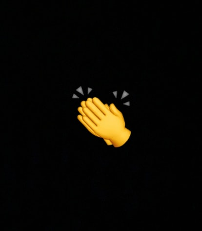 The clapping hand emoji can represent showing appreciation or being impressed.