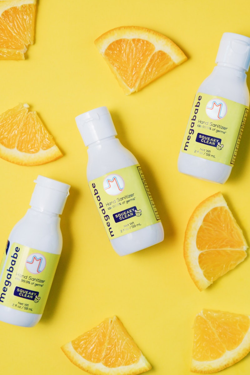 Megababe's Squeaky Clean hand sanitizer is back in stock