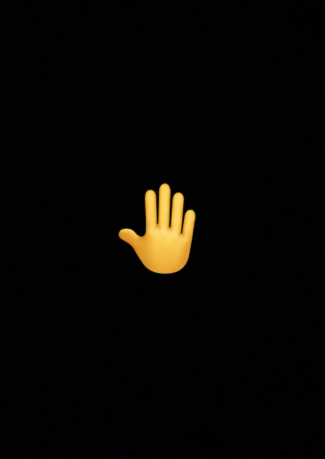 The hand emoji is meant to represent someone raising their hand or volunteering.