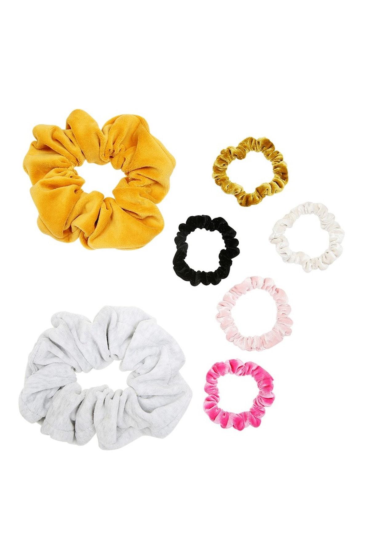 Oversize and Skinny Velvet Scrunchie Set