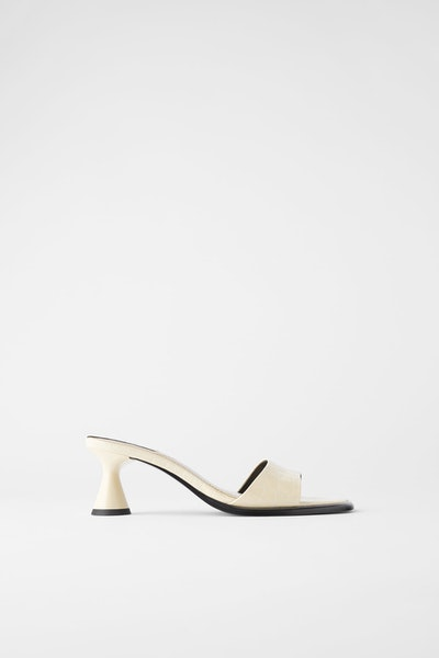 Zara Animal Print Heeled Sandals
