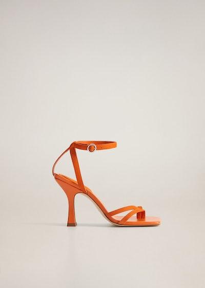 Mango Asymmetric Leather Sandals