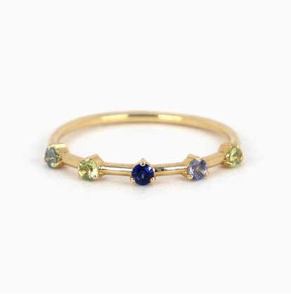 Five Birthstone Stacker