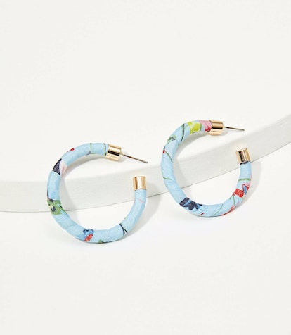 Loft Fabric Wrapped Hoop Earrings