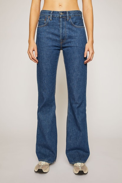 Relaxed Bootcut Jeans Dark Blue