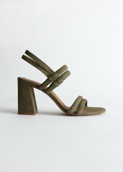 & Other Stories Suede Slingback Heeled Sandals