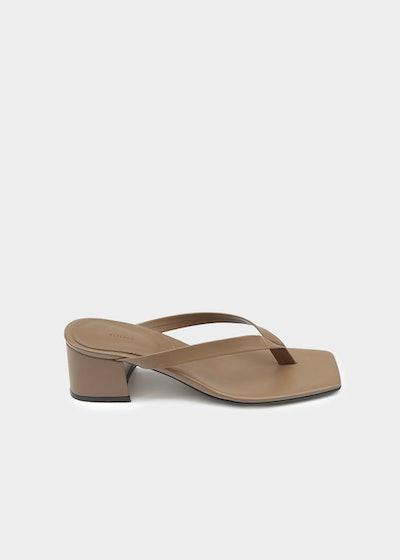 Frankie Shop Thong Heeled Sandal