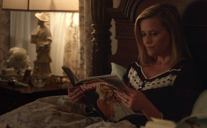 Elena (Reese Witherspoon) reading Newsweek in 'Little Fires Everywhere'