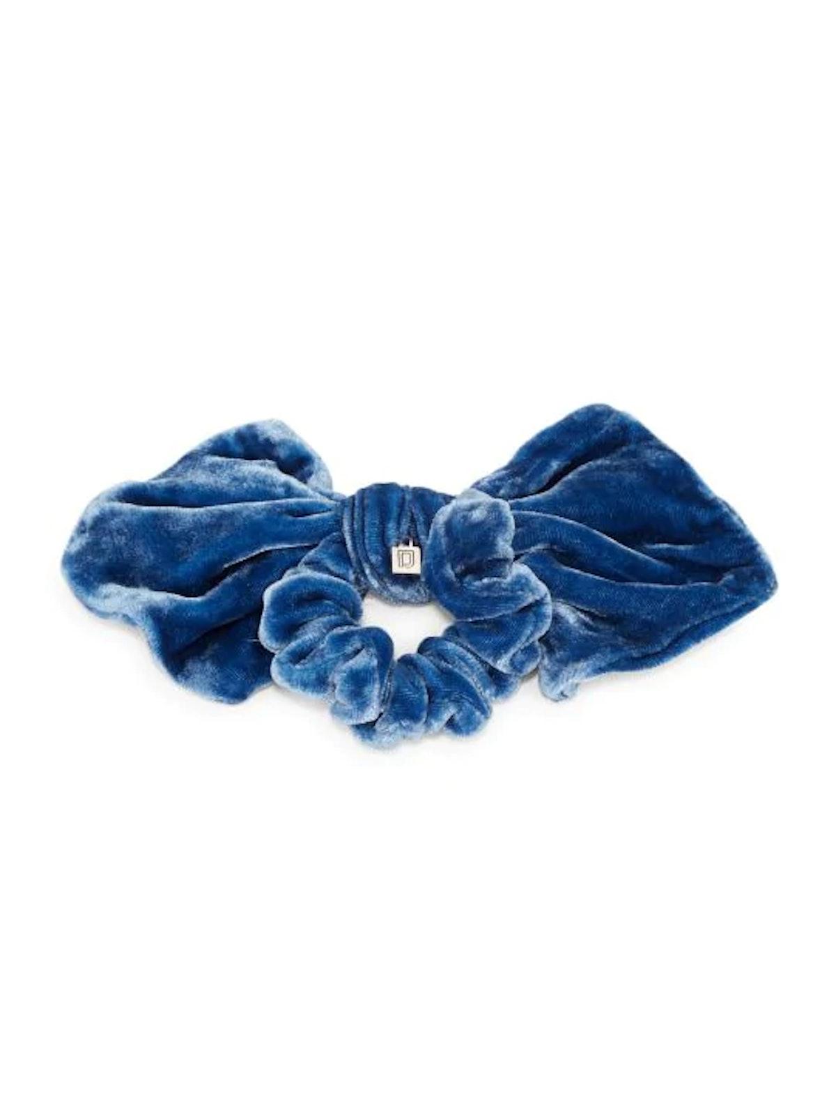 Silk Velvet Bow Scrunchie