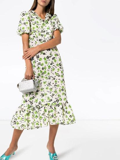Oakley floral print seersucker dress