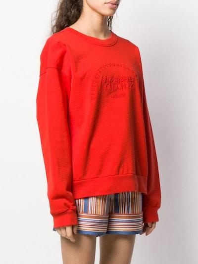 heritage embroidered sweatshirt