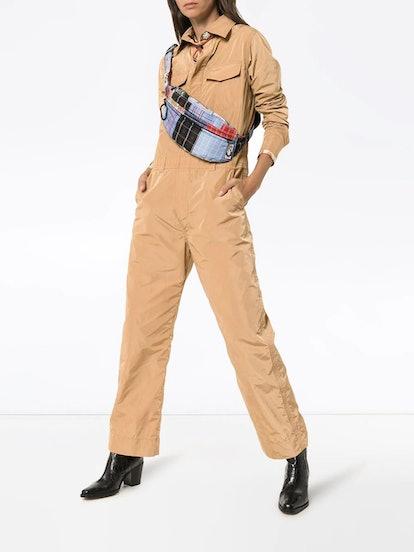 Collared utility jumpsuit