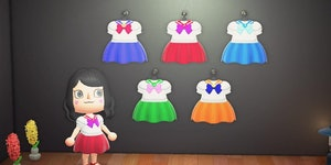 'Animal Crossing: New Horizons' designs: 10 QR codes for 'Sailor Moon' outfits