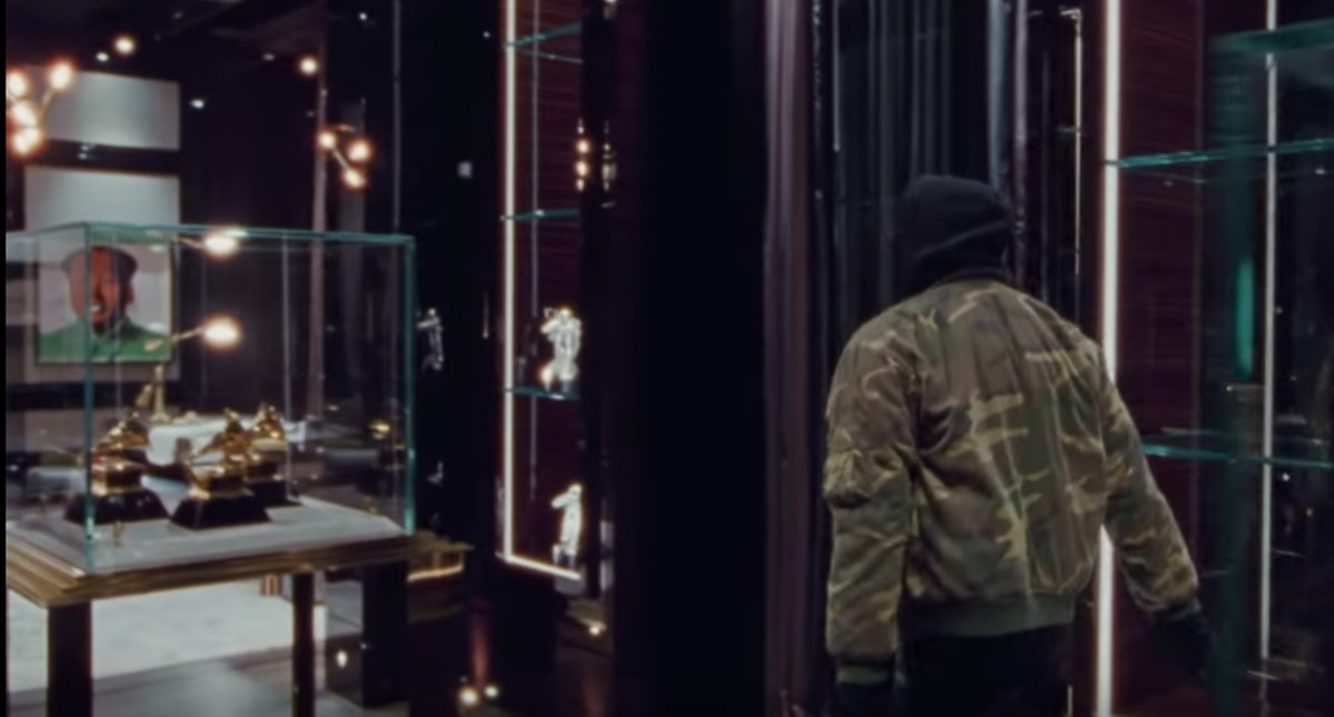 Drake has dedicated an entire room in his mansion to showcasing his awards.
