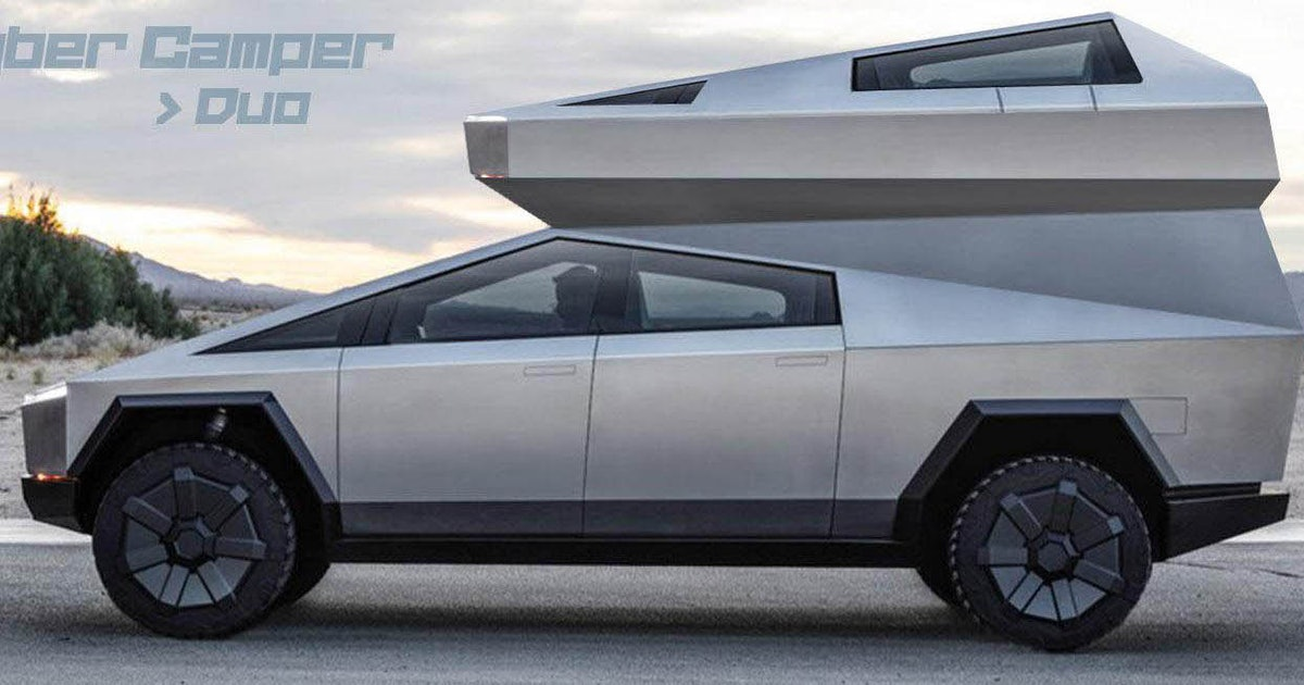 These Tesla Cybertruck camper concepts are crimes against ...