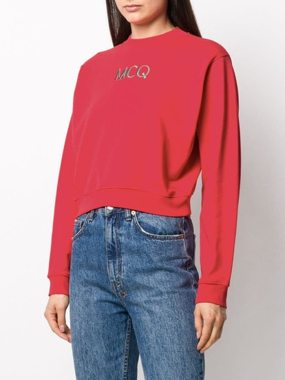 Embroidered logo sweatshirt